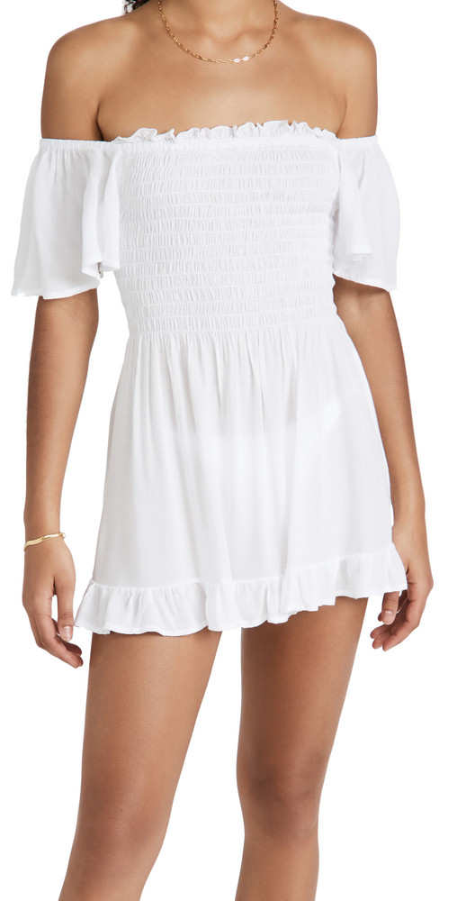 TIARE HAWAII Hendrix Mini Dress in white