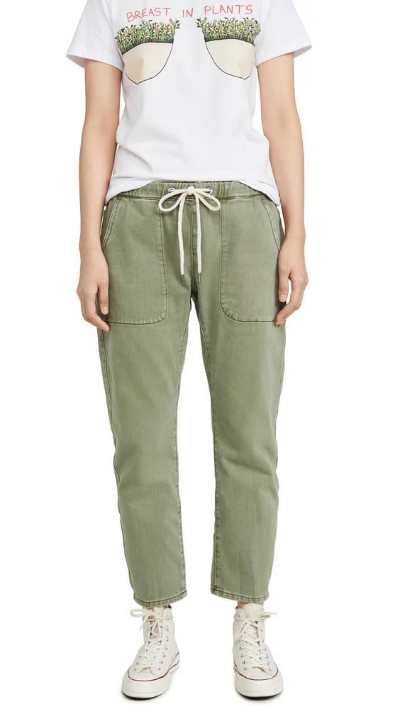 One Teaspoon Shabbies Drawstring Boyfriend Jeans in khaki