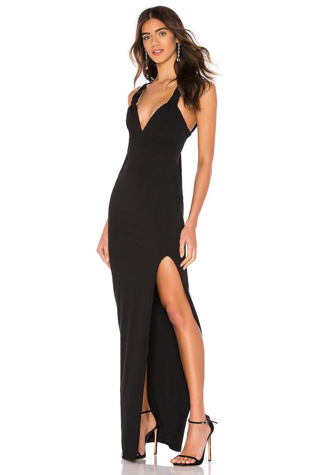 Nookie Lust Gown in black