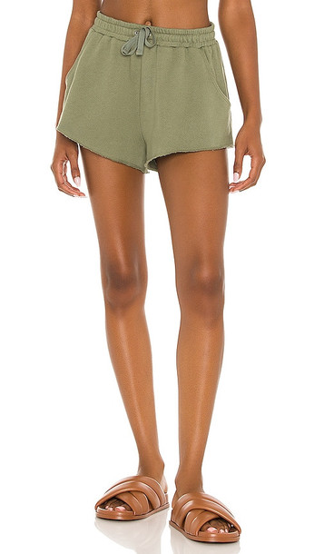 Lovers + Friends Lovers + Friends Everyday Terry Shorts in Olive in green