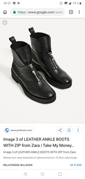 shoes,black,boots,leather,zara,zip-up