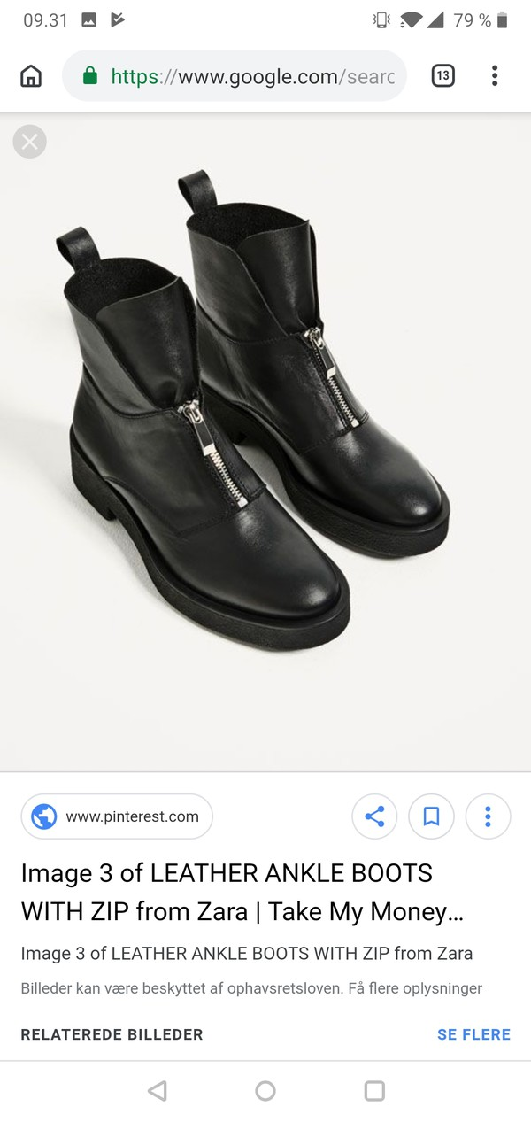 shoes black boots leather zara zip-up