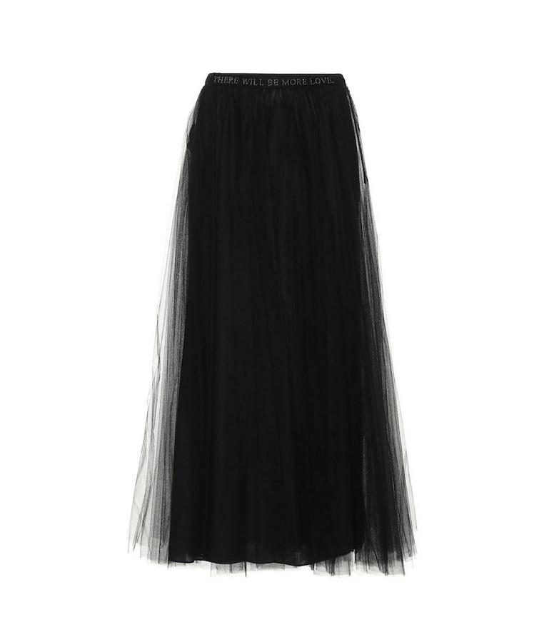 Valentino Embellished tulle skirt in black