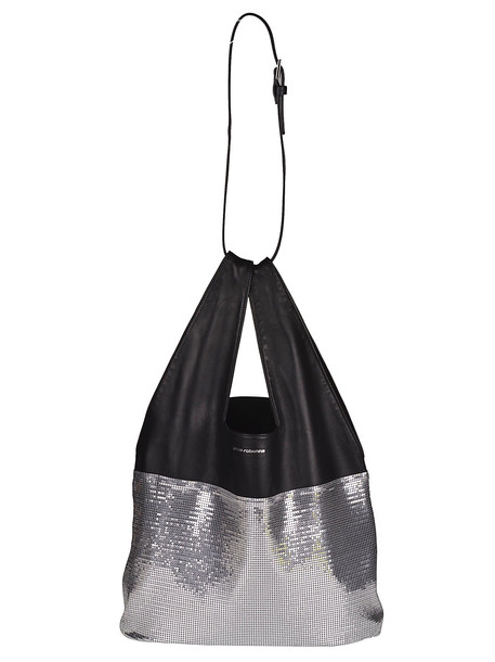 Paco Rabanne Iconic Tote in black / silver