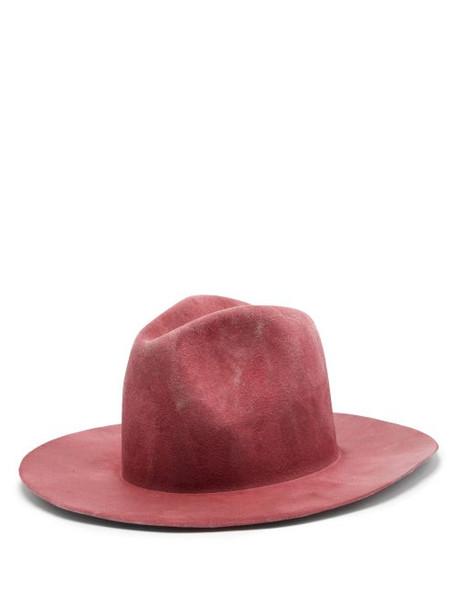 Reinhard Plank Hats - Bonica Felt Fedora - Womens - Pink
