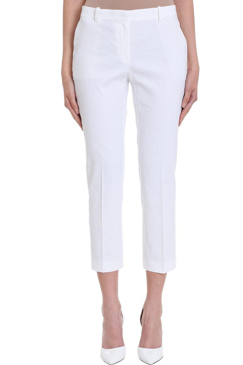 Theory Cotton Tailor Pants in white
