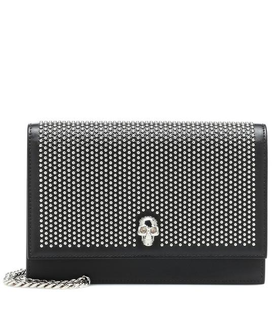 Alexander McQueen Skull Mini embellished shoulder bag in black