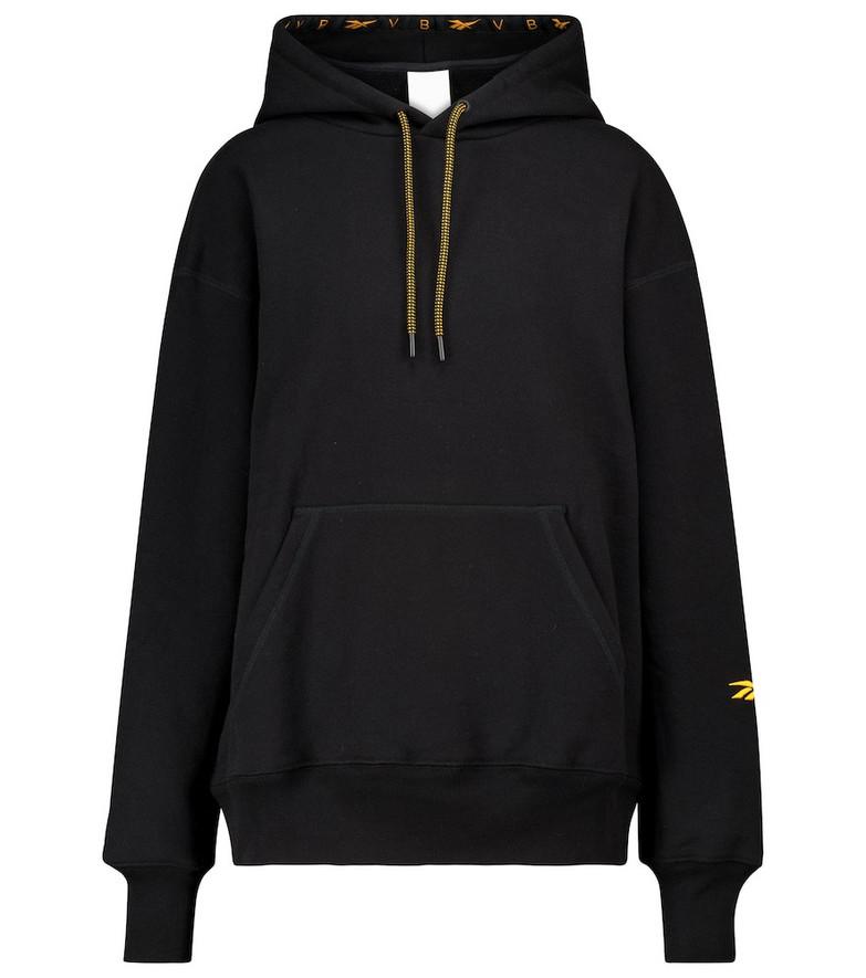 Reebok x Victoria Beckham Logo cotton-jersey hoodie in black