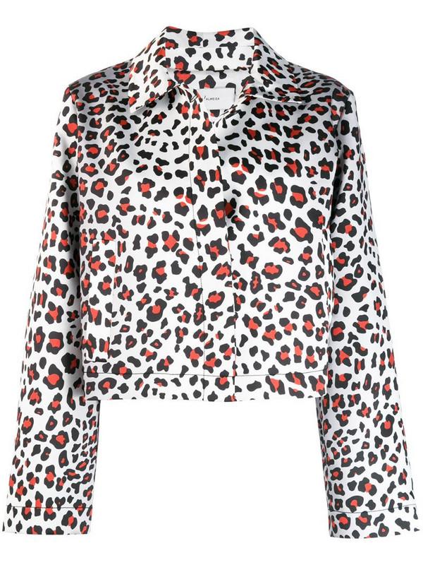 Marques'Almeida Leopard print coat in white
