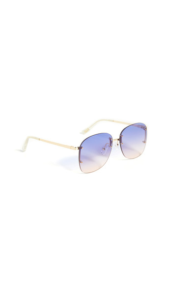 Le Specs Skyline Sunglasses in gold