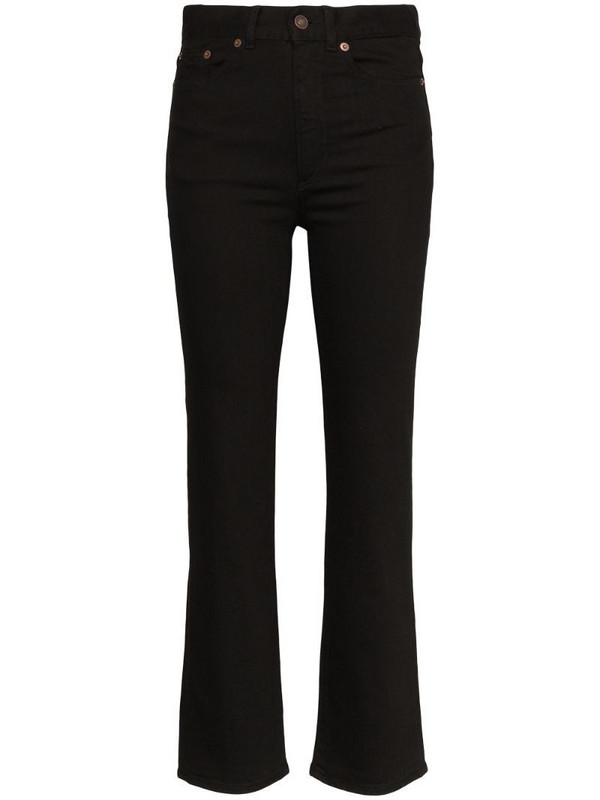 Jeanerica high-rise straight-leg jeans in black