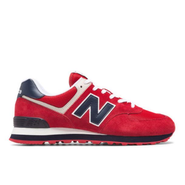 New Balance 574 Essentials Men's 574 Shoes - Red/Navy (ML574MUE)