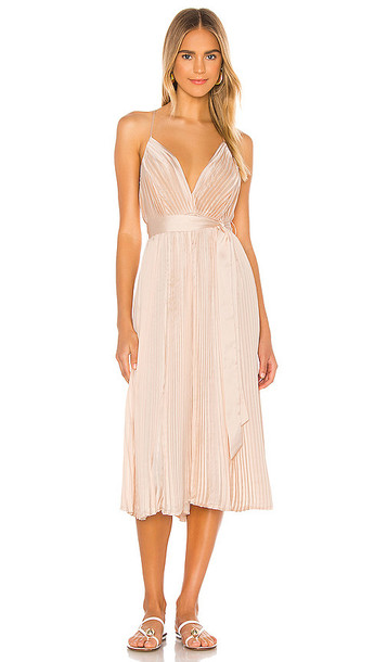 LPA Kinsley Dress in Blush in peach