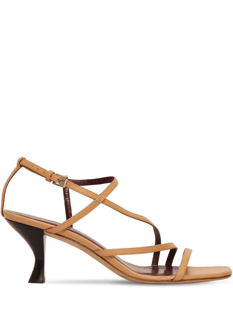 STAUD 60mm Gita Leather Sandals in camel