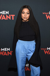 top,flare,long sleeves,black top,taraji p. henson,celebrity