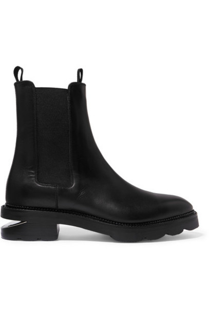 Alexander Wang - Andee Cutout Leather Chelsea Boots - Black