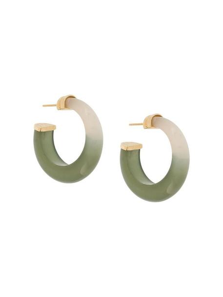Gas Bijoux Abalone earrings in green