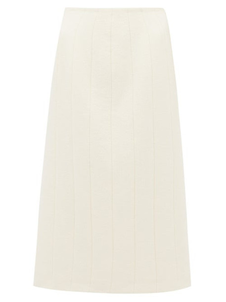 Brock Collection - Pietrasole Wool Blend Midi Skirt - Womens - Cream