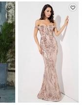 dress,rose gold,sequins,sequin dress,gown,off the shoulder,formal dress,formal event outfit,formal,wedding,bridesmaid,prom,blush