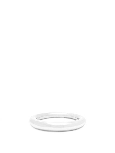 All Blues - Hungry Snake White Gold Vermeil Silver Ring - Womens - Silver