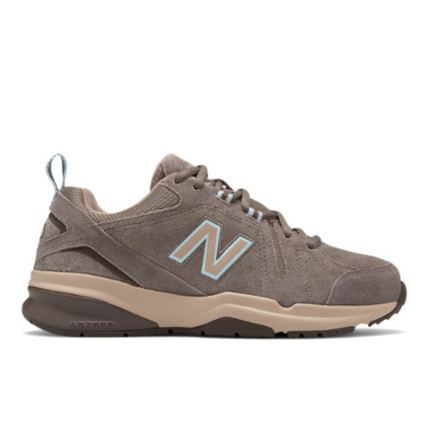 New Balance 608v5 Women's Everyday Trainers Shoes - Brown/Pink (WX608UB5)