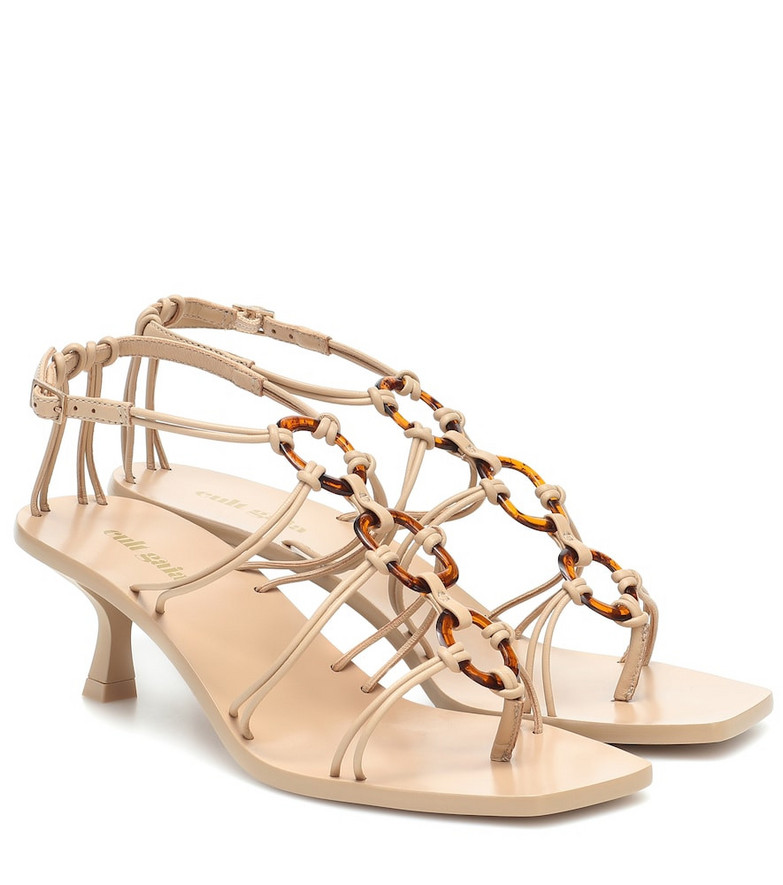Cult Gaia Ziba leather sandals in beige