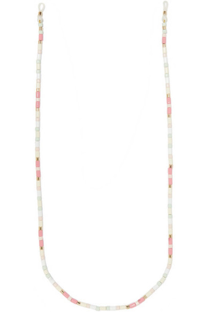 Roxanne Assoulin - Bahamas Enamel And Gold-tone Sunglasses Chain - Pink