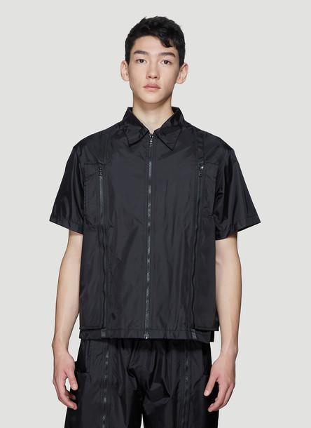Studio Alch Zip-Off Reusable Bag Shirt in Black size L