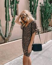 dress,leopard print,mini dress,sunglasses,bag