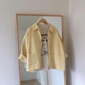cardigan,yellow,korean fashion,korean style,oversized cardigan,boxy sweater,pastel