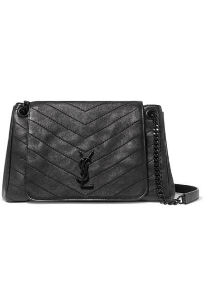 SAINT LAURENT - Nolita Medium Quilted Leather Shoulder Bag - Black