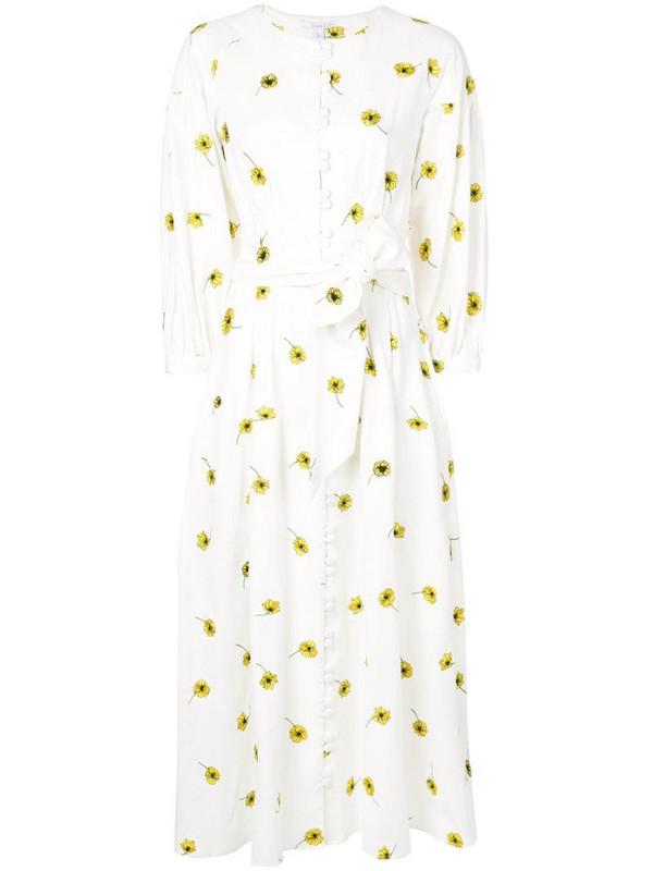 Olivia Rubin daisy print dress in white