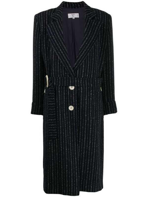 Valentino Pre-Owned '1980s striped coat in blue