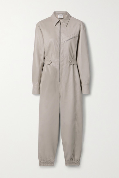 STELLA MCCARTNEY - Mira Vegetarian Leather Jumpsuit - Neutrals