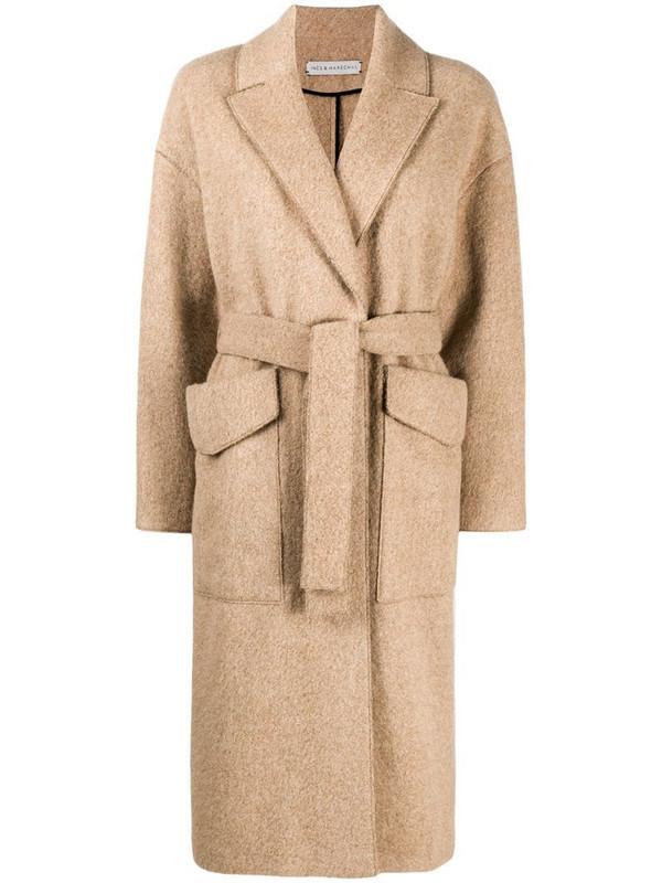 Inès & Maréchal tie-waist coat in neutrals