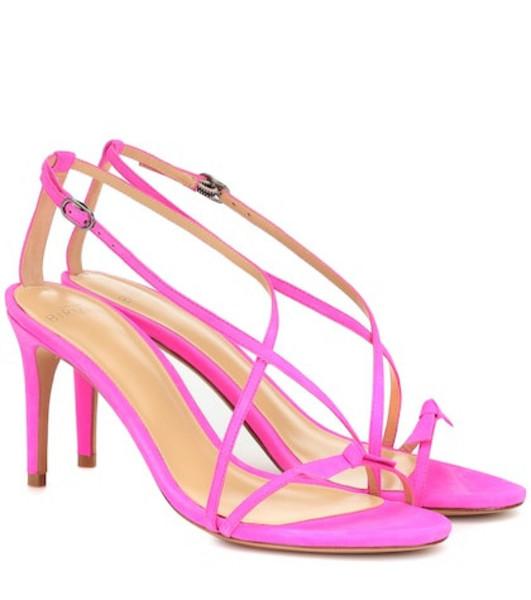 Alexandre Birman Anastassia 75 suede sandals in pink
