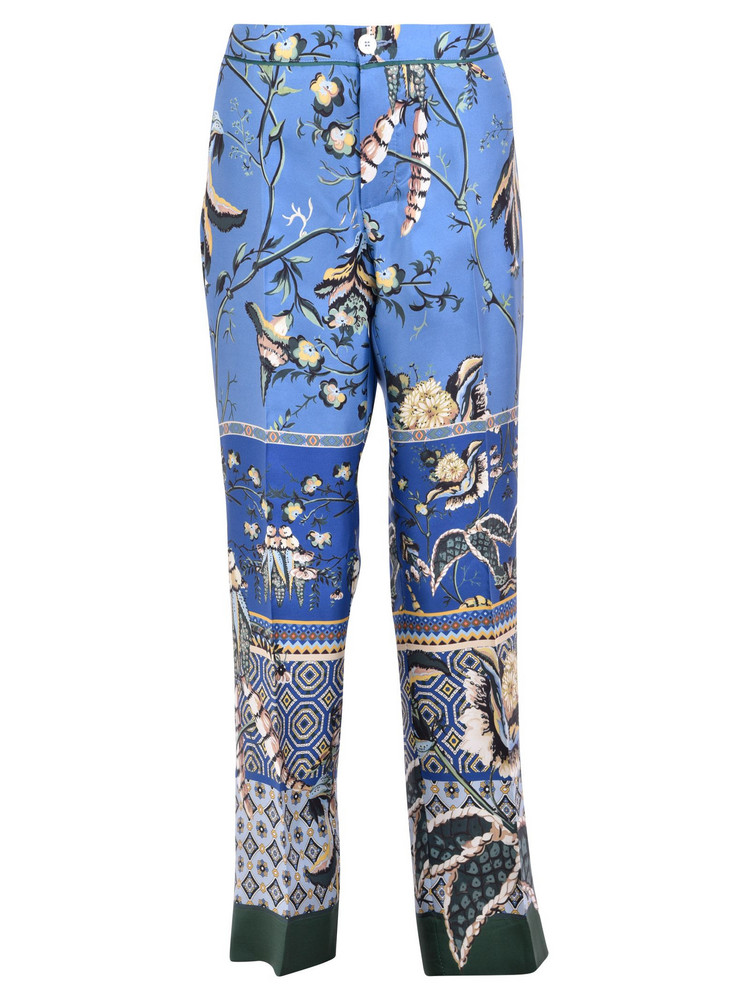 For Restless Sleepers Printed Trousers in blue