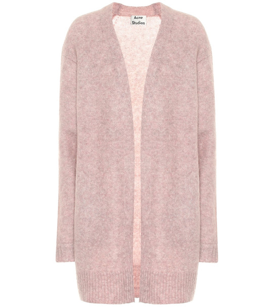 Acne Studios Raya wool and mohair-blend cardigan in pink