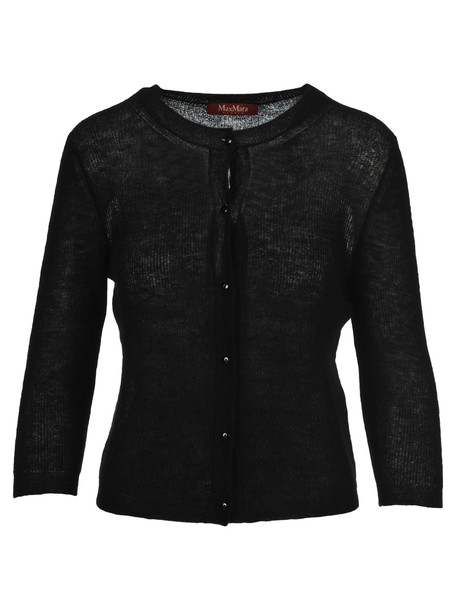 Max Mara Studio Knit Cardigan in black
