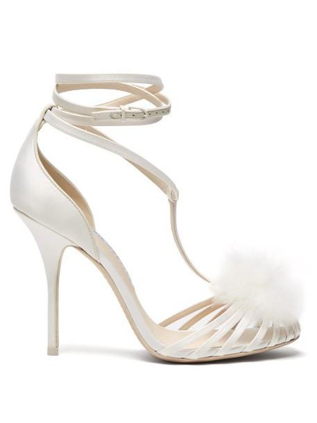 Sophia Webster - Jojo Marabou Pompom Embellished Sandals - Womens - White