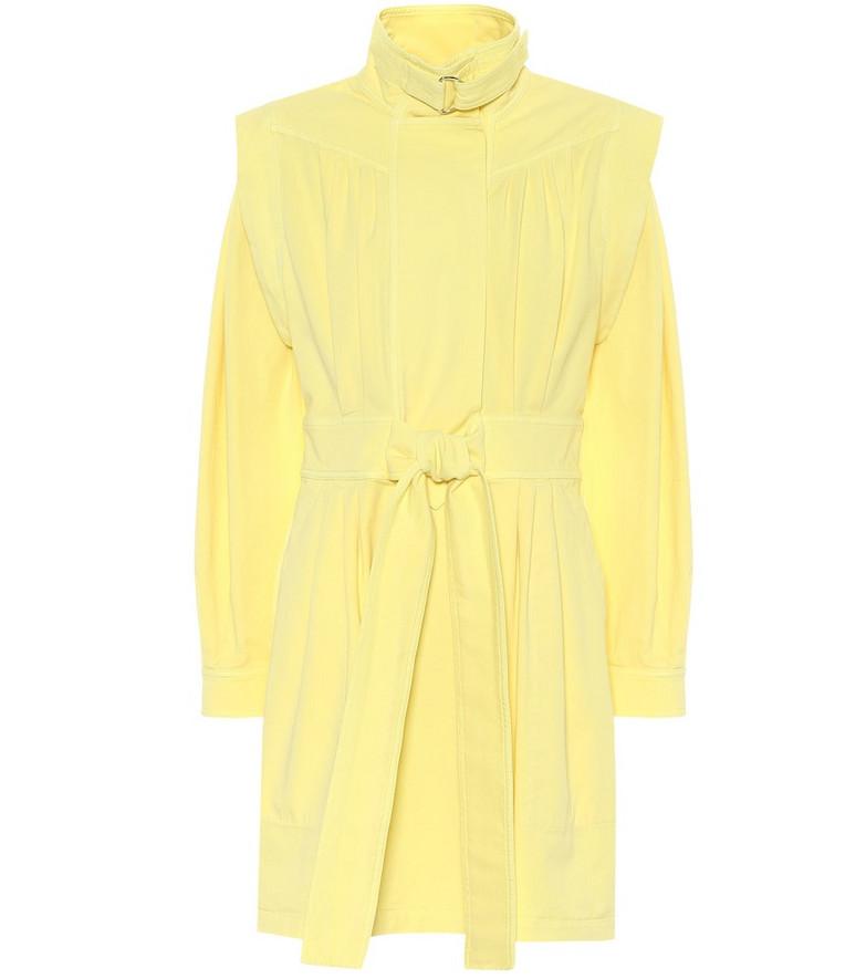 Stella McCartney Stretch-cotton twill minidress in yellow