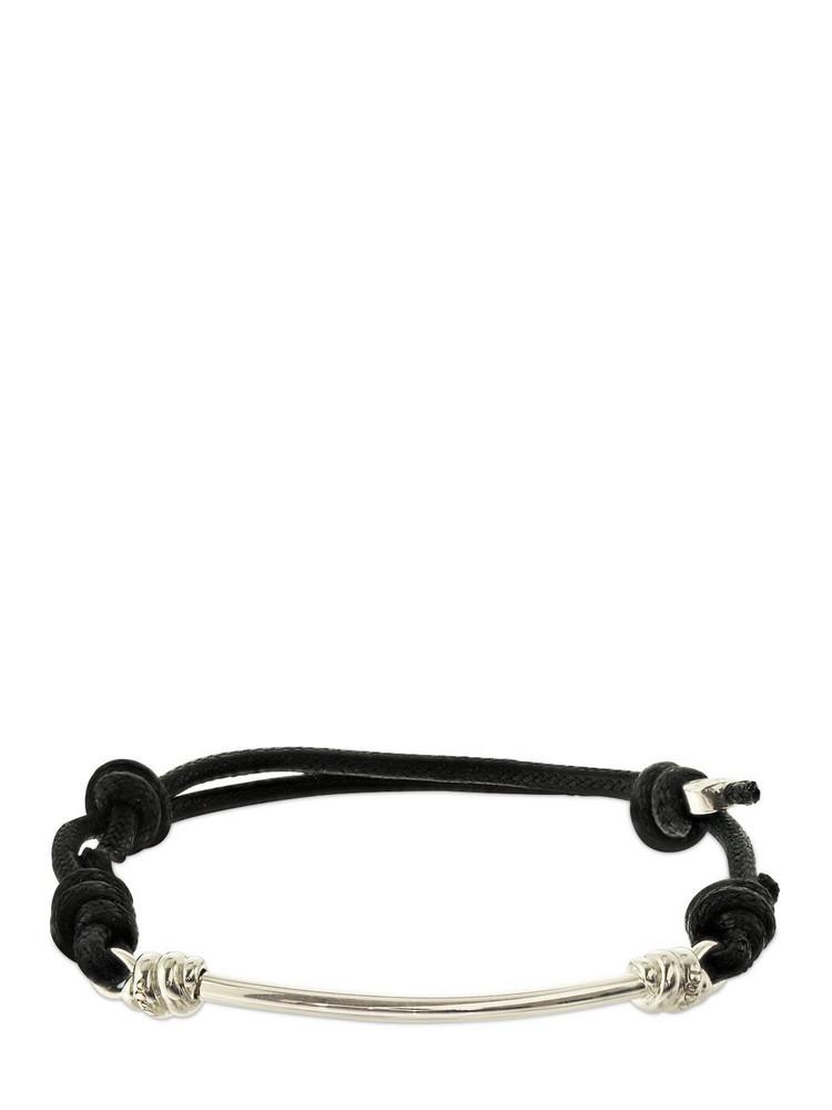 DODO Nodo Silver & Cotton Cord Bracelet