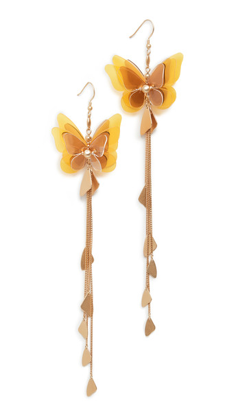 Zimmermann Butterfly Drop Earrings in yellow