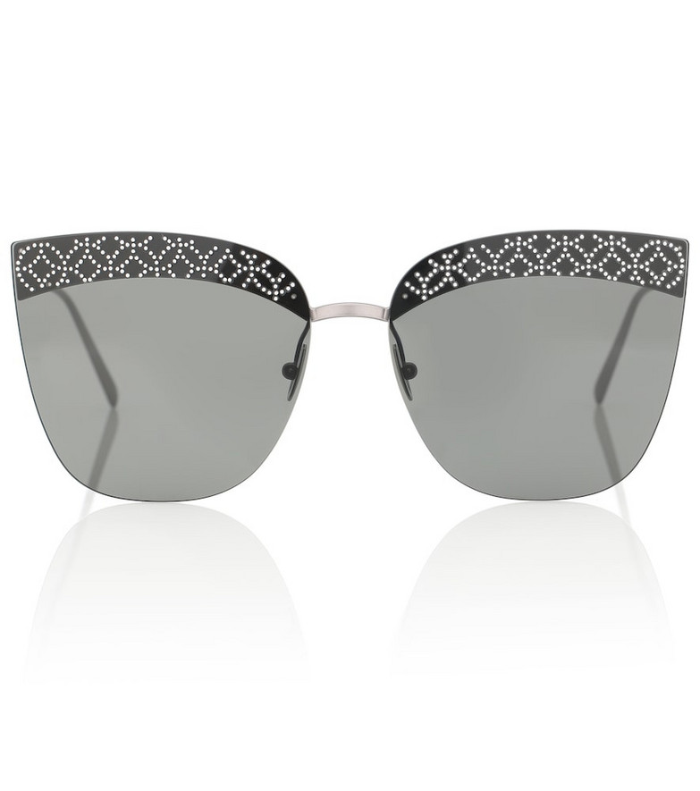 Alaïa Embellished cat-eye sunglasses in grey