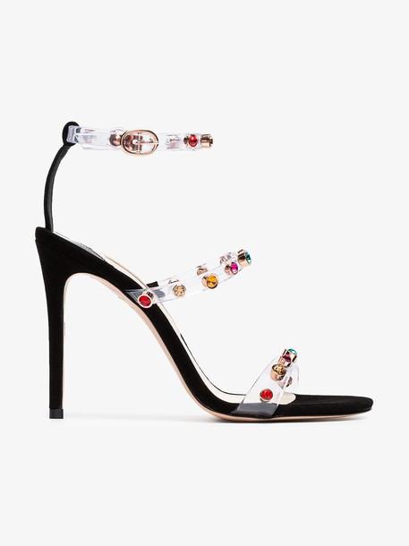 Sophia Webster Rosalind 100 gem PVC sandals in black