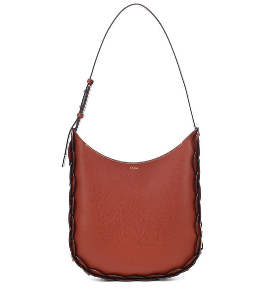 Chloé Darryl Large leather tote in brown
