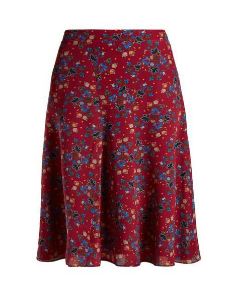 Altuzarra - Caroline Floral Print Skirt - Womens - Pink Print