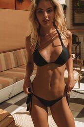 swimwear,two piece mafia,triangle bikini,little black bikini