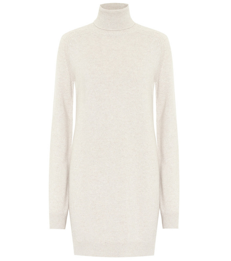 Loro Piana Dunster turtleneck cashmere dress in beige
