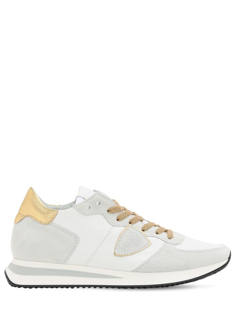 PHILIPPE MODEL Trpx Leather Sneakers in gold / beige